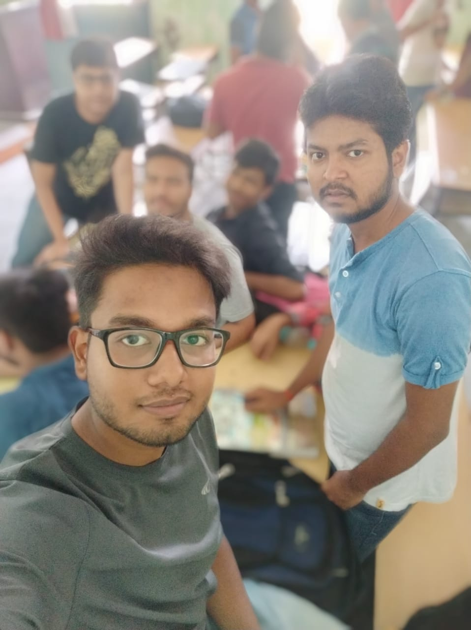 A selfie picture showing me with my several friends - Redmi Note 5 Pro Front Camera