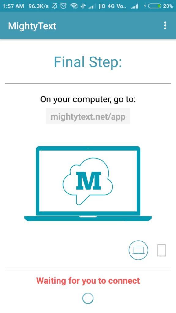 mightytext app