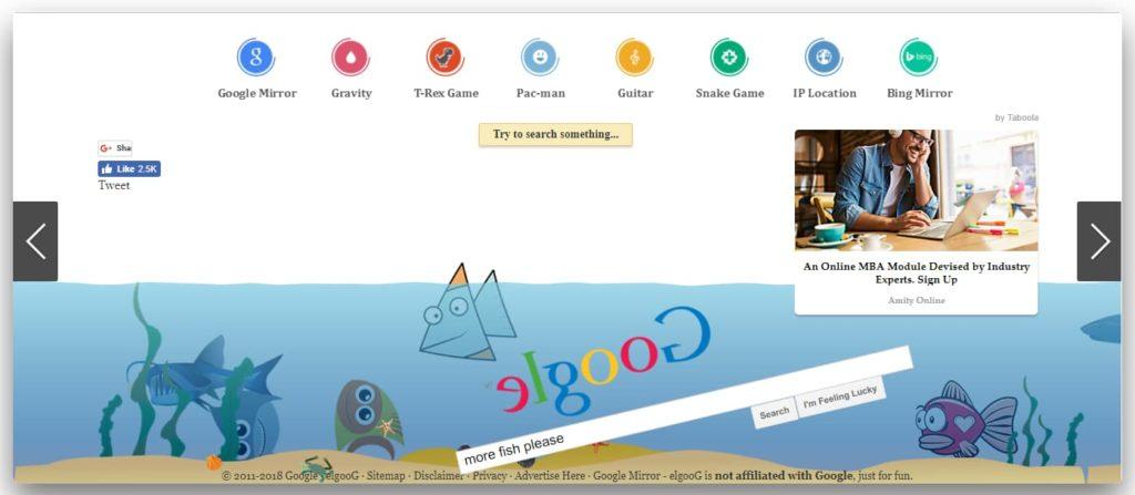 Google sinked under water