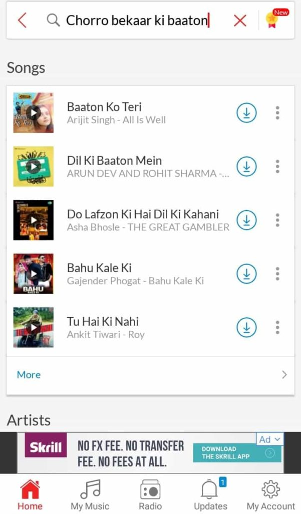 Chorro Bekaar ki baaton ko song lyric search result on wync music app