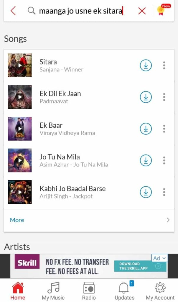 Maanga Jo Usne Ek sitara lyric search result on wync music