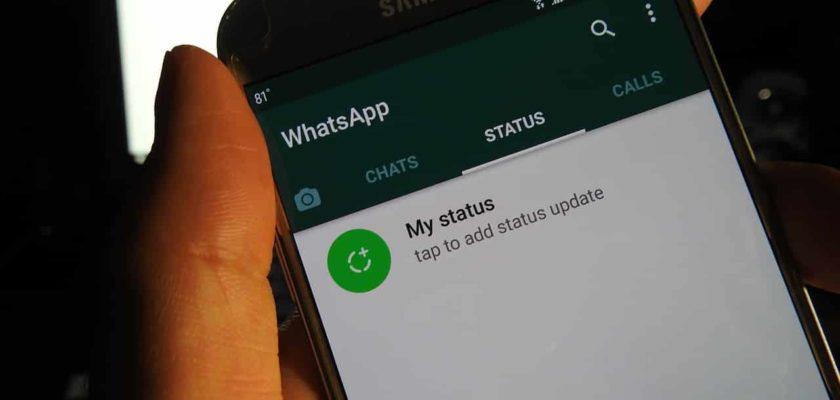 WhatsApp status section