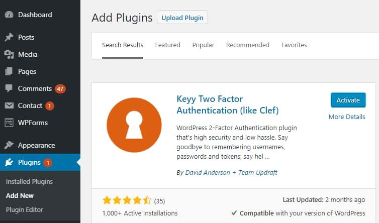 Keyy plugin screenshot for referral.